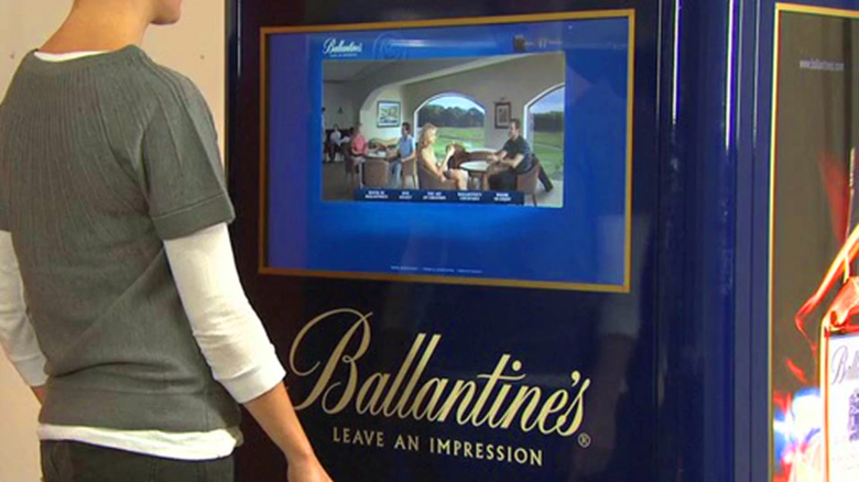 Touch screen kiosk for Ballantine's Whiskeyj